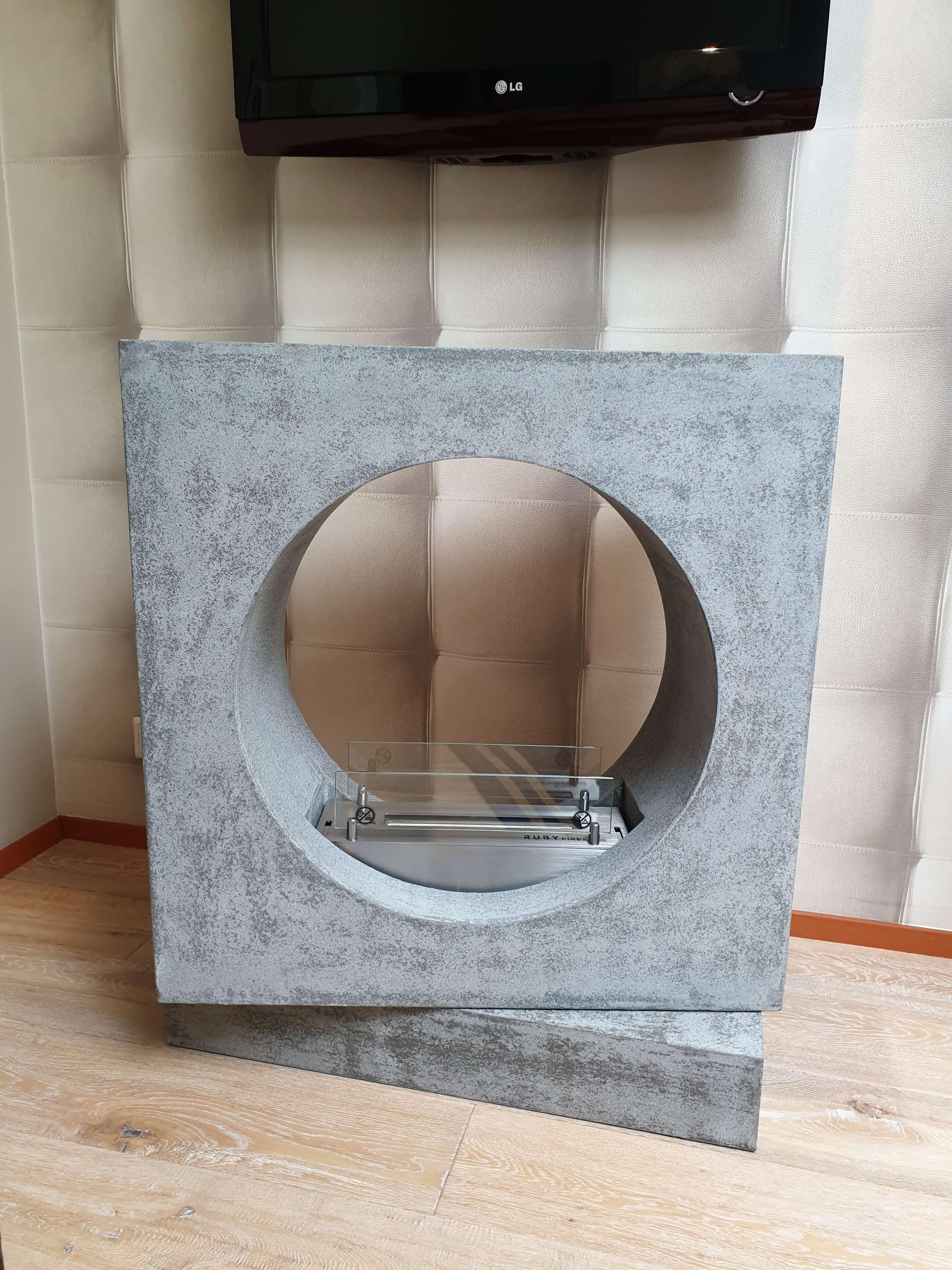 Milano MDF betonlook bio ethanol brander S