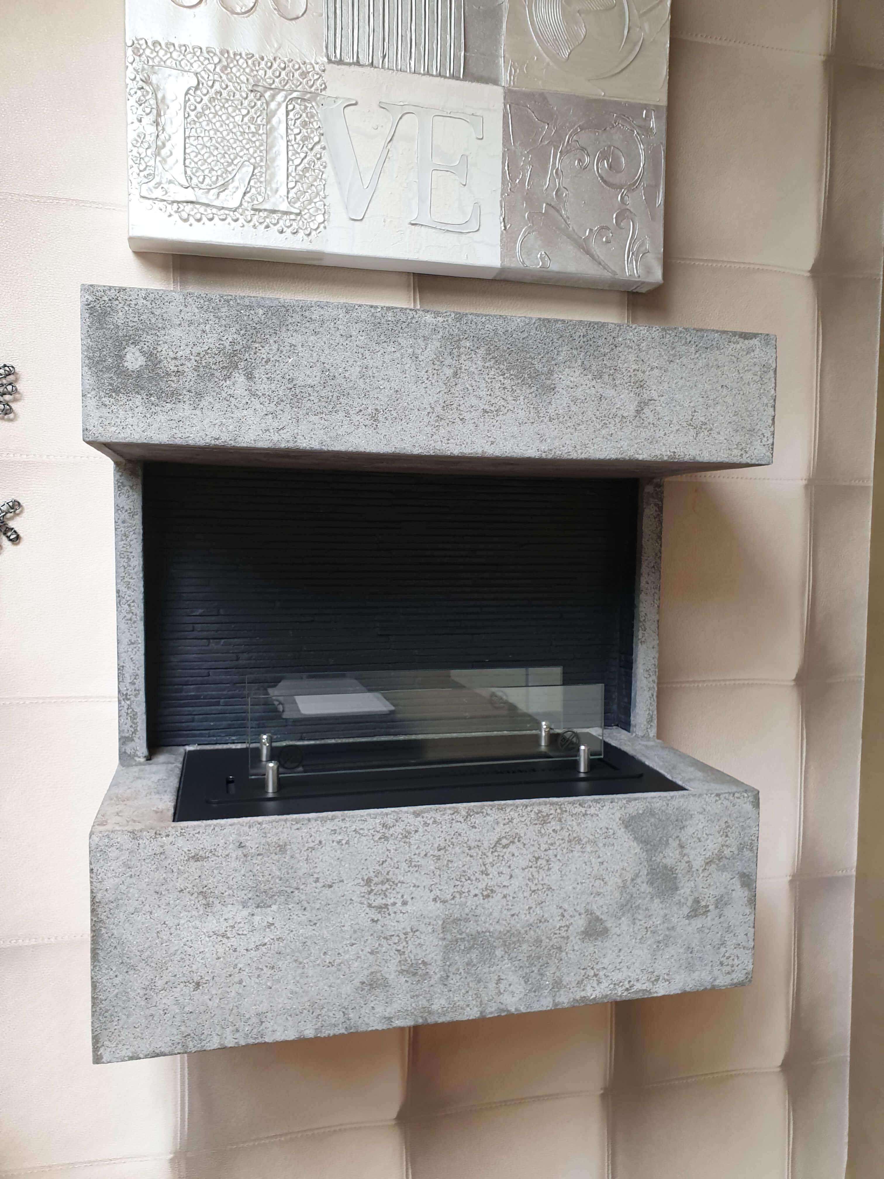 Nova MDF betonlook bio ethanol brander S
