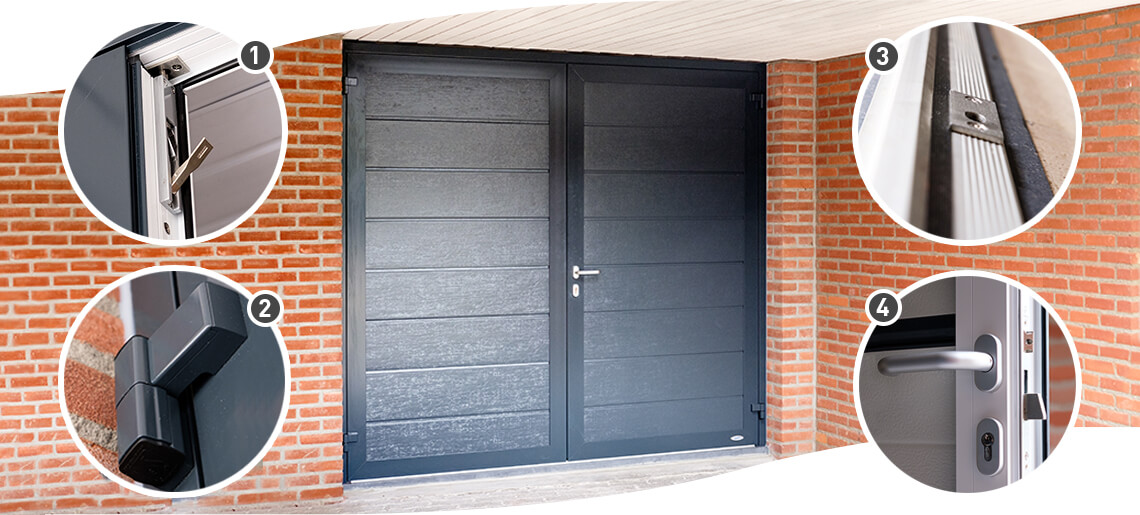 french type garage door